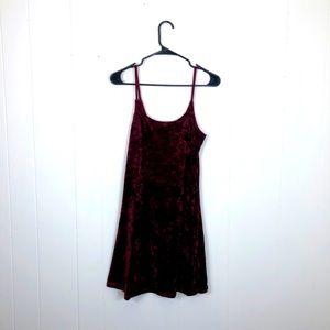 Vintage Burgundy Velvet Mini Dress Sz M